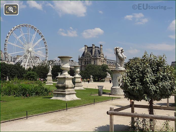 Ferris Wheel Grand Carre Area Jardin Tuileries Looking NE
