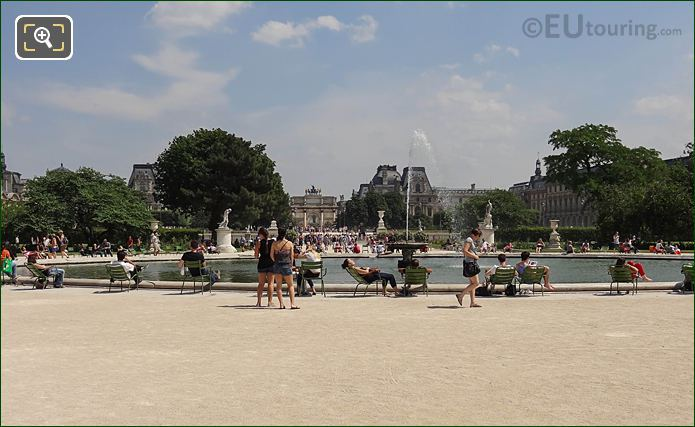 Grand Bassin Rond Jardin Des Tuileries Looking East
