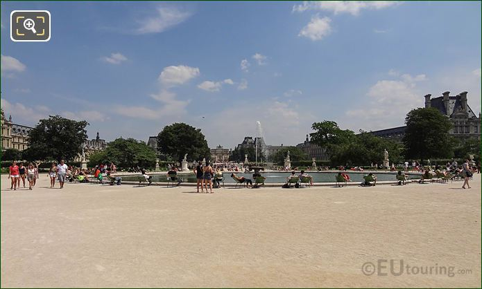 SE View Over Grand Bassin Rond Water Feature