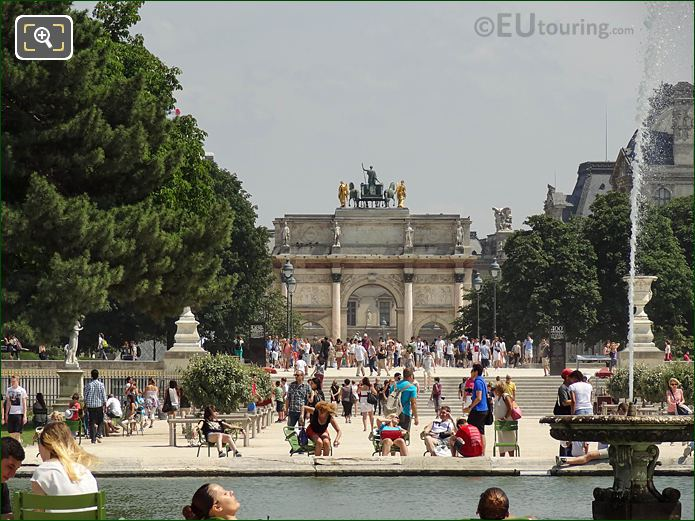 South East From Grand Bassin To Arc Triomphe Carrousel Jardin Tuileries