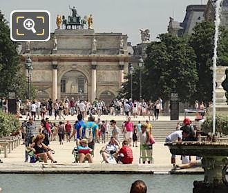 Tuileries Gardens Water Fountain In Grand Bassin Rond