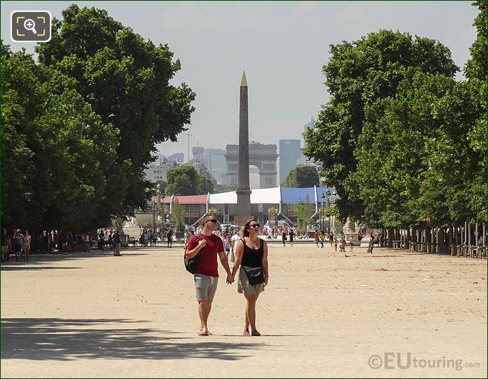 Allee Centrale Pathway Jardin Des Tuileries Looking NW