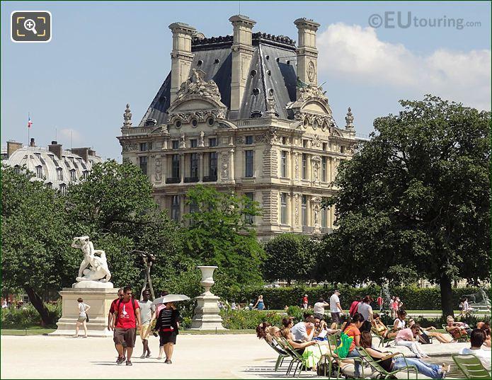 Grand Carre Area Jardin Des Tuileries Looking NE