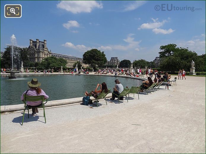 Grand Bassin Rond In Jardin Des Tuileries Looking North East