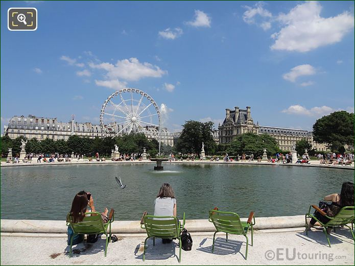 Grand Bassin, Ferris Wheel Grand Carre Jardin Tuileries NE