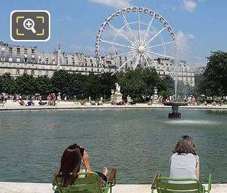NE View Over Grand Bassin Rond Jardin Des Tuileries