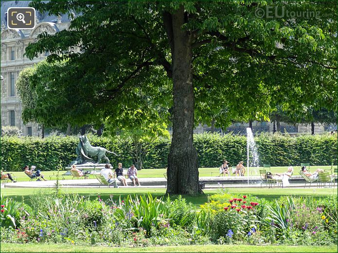 Grand Reserve Sud In Jardin Des Tuileries Looking SE