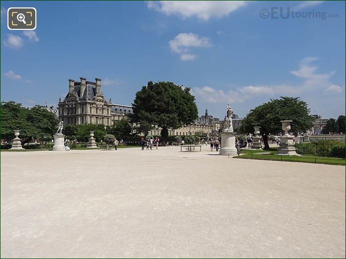 Grand Carre In Jardin Des Tuileries Looking E