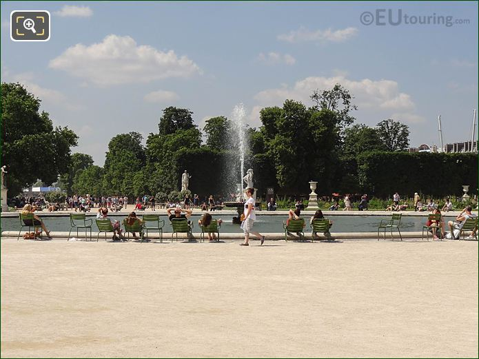 NW View Over Grand Bassin Rond Jardin Des Tuileries
