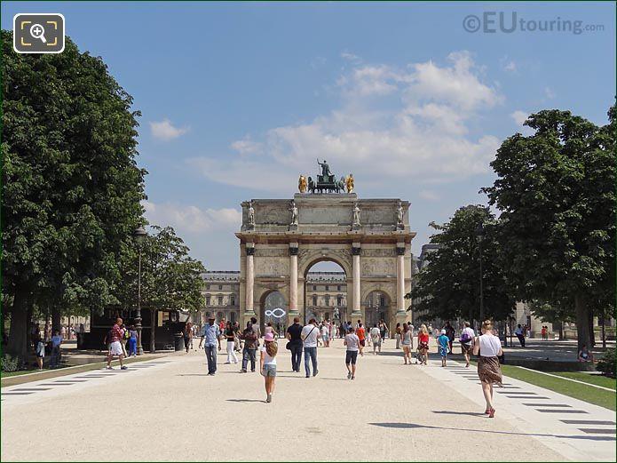 Arc Triomphe Carrousel Tuileries Garden