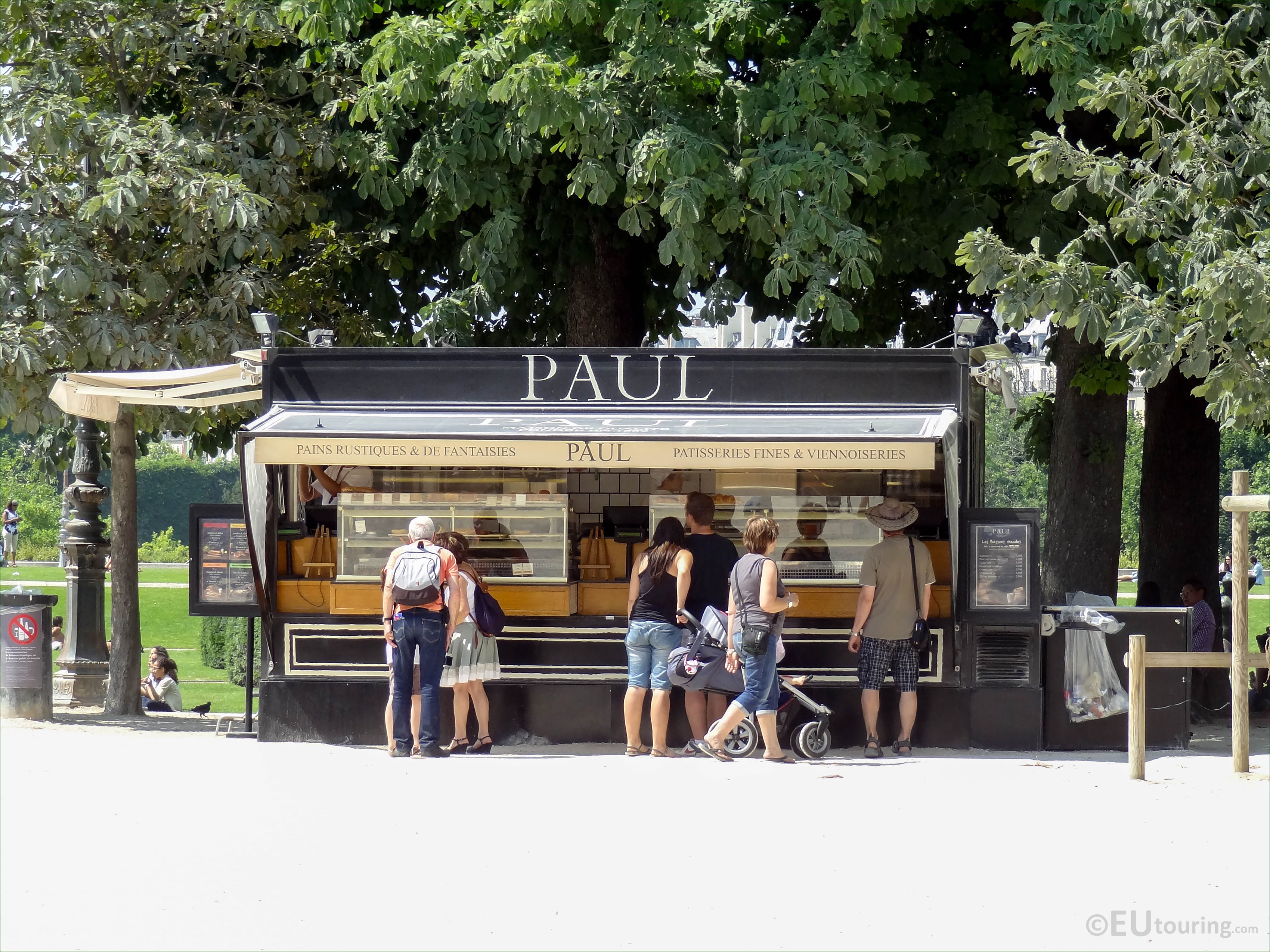 Kiosque Paul In Jardin Des Tuileries Looking North Page 81
