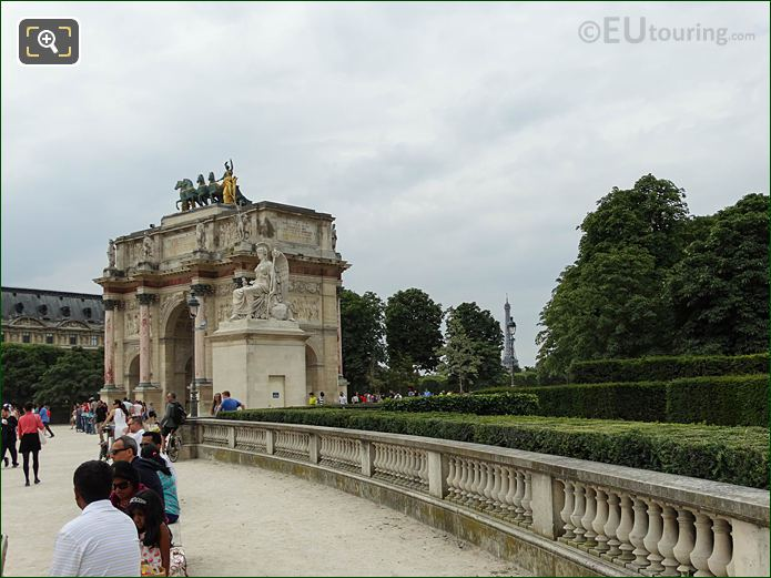 Arc De Triomphe Du Carrousel Tuileries Gardens Looking SW