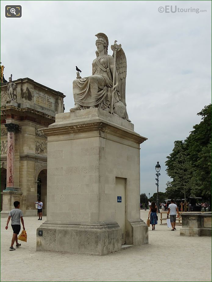 Place Du Carrousel Jardin Des Tuileries Looking SW