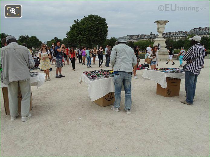 Street Sellers On Terrasse Des Tuileries Looking NW