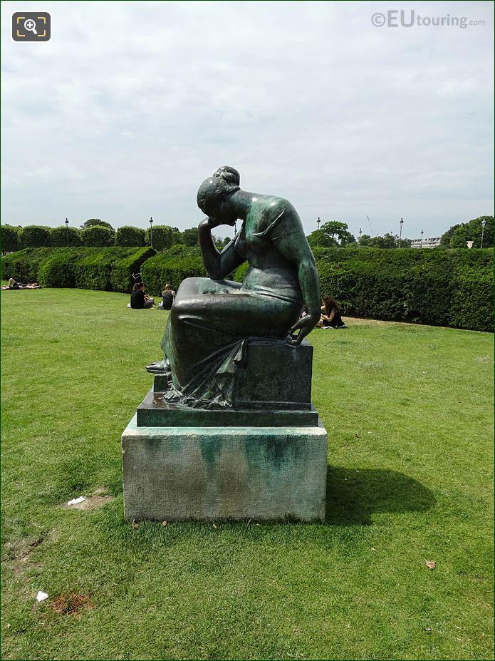 Bronze Statue Carrousel Garden Jardin Des Tuileries Looking NW