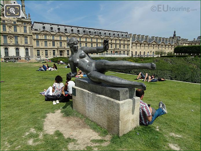 Air Statue Within Tuileries Gardens Looking North East