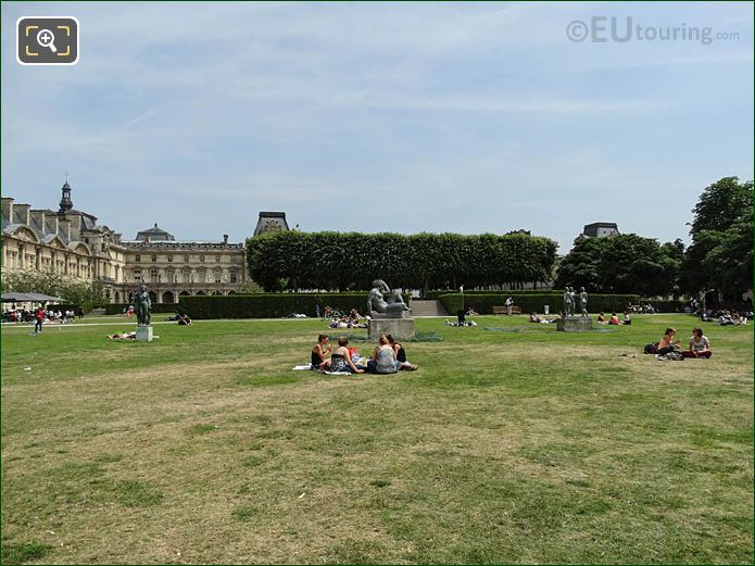 Jardin Du Carrousel Part Of Tuileries Gardens Looking South East