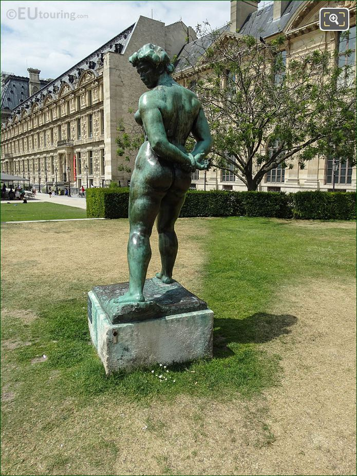 Maillol Statue L'Action Enchainee In Tuileries Gardens Looking North Westerly