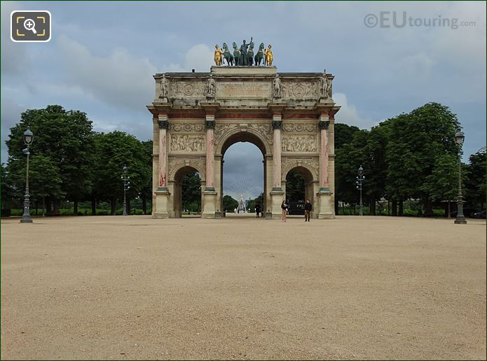 Arc De Triomphe Du Carrousel In Tuileries Gardens Looking North West
