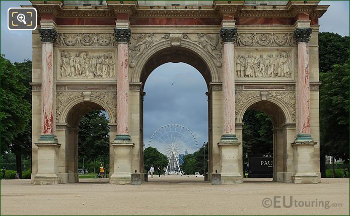 Marble Columns East Facade Arc De Triomphe Du Carrousel