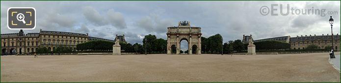 Panoramic Of Jardin Du Carrousel Jardin Des Tuileries Looking NW