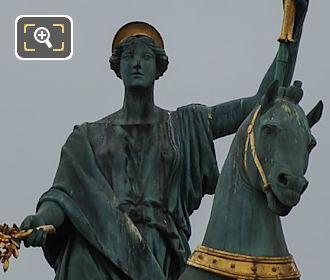 Bronze Statue Within Chariot On Arc De Triomphe Du Carrousel