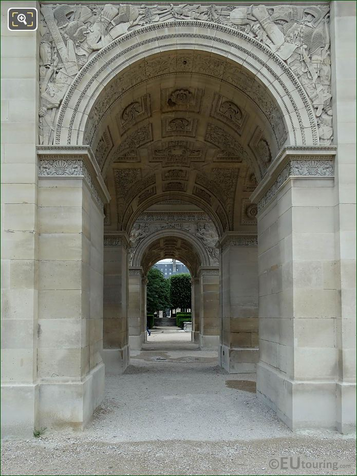 South Side Archway Arc De Triomphe Du Carrousel