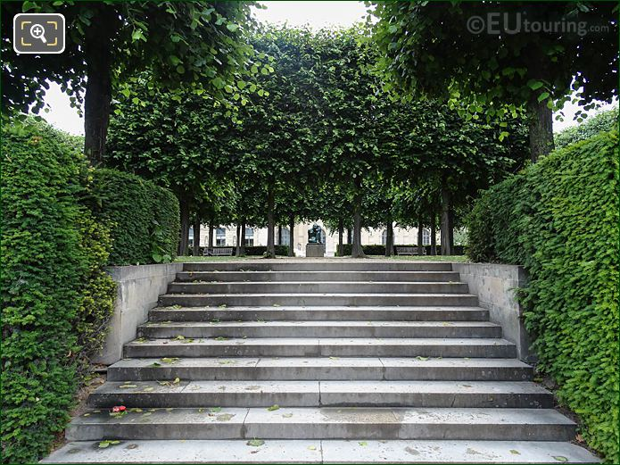 Raised Garden Maillol Statue Jardin Des Tuileries Looking NNE