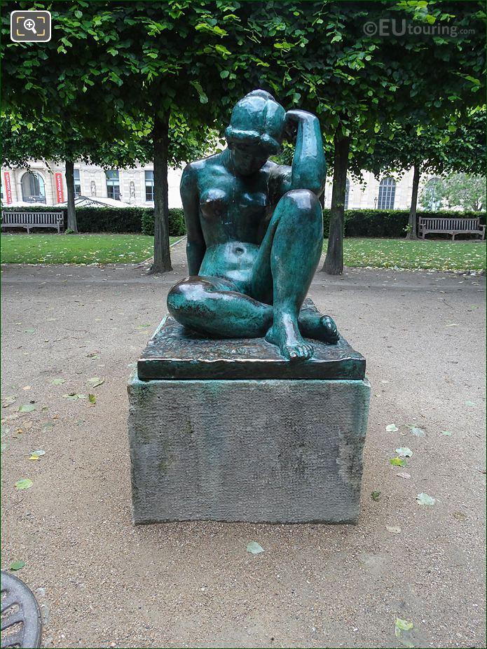 The Mediterranean Statue In Tuileries Gardens Looking North East