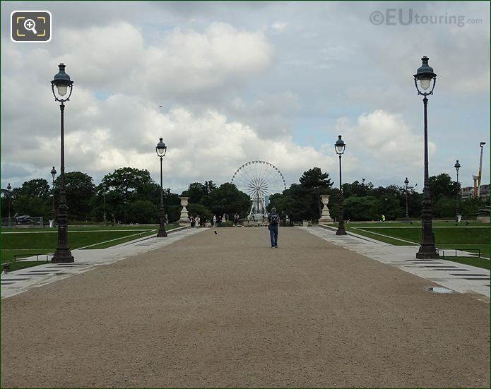Terrasse Des Tuileries Tuileries Gardens Looking NW