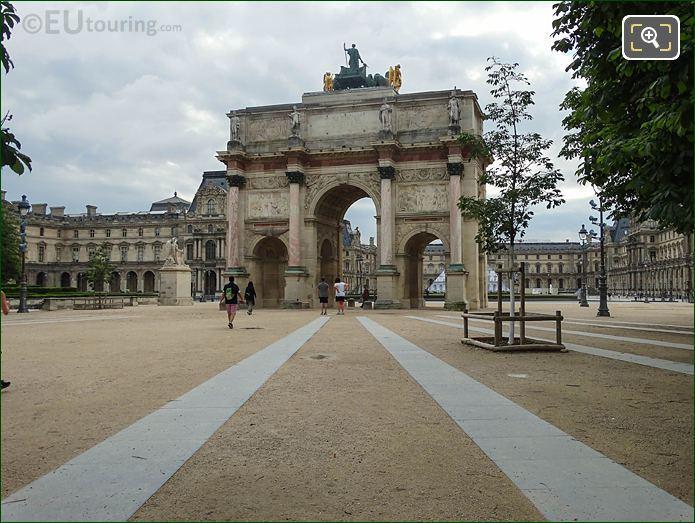 Arc De Triomphe Du Carrousel Jardin Des Tuileries Looking East