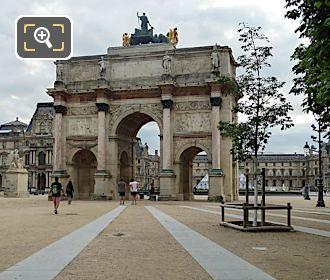 West Facade Arc De Triomphe Du Carrousel