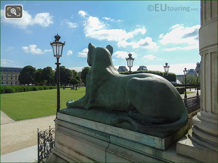 Lion Statue Inside Tuileries Gardens Looking North East