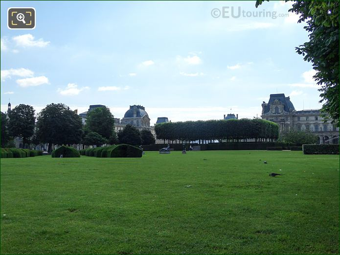 Open Grass Area Inside Tuileries Gardens Looking North East, East
