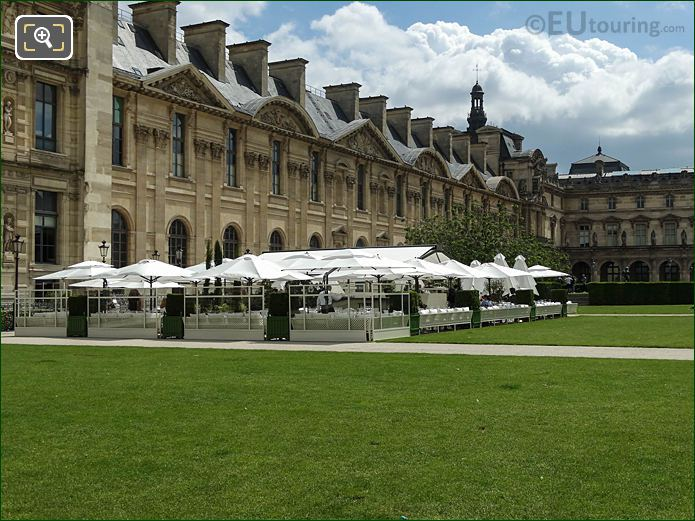 Loulou Restaurant Terrace Jardin Des Tuileries Looking NE