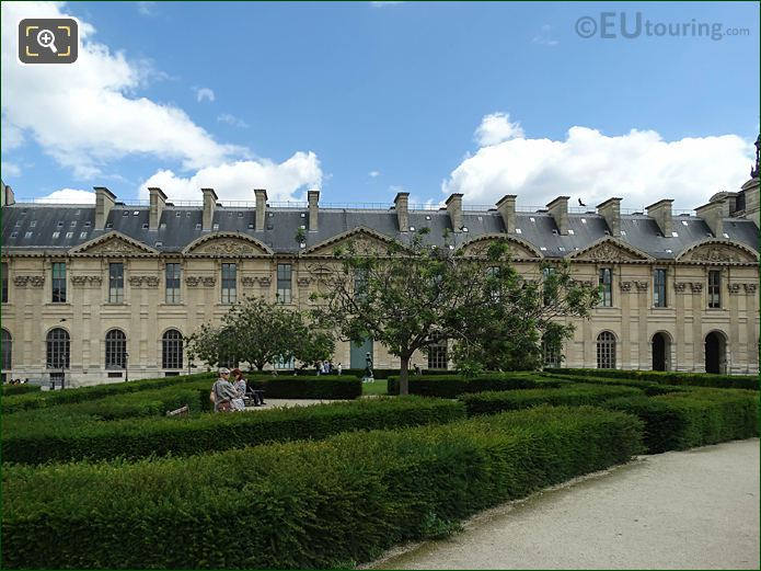 Hedge Labyrinth Jardin Des Tuileries Looking NNE