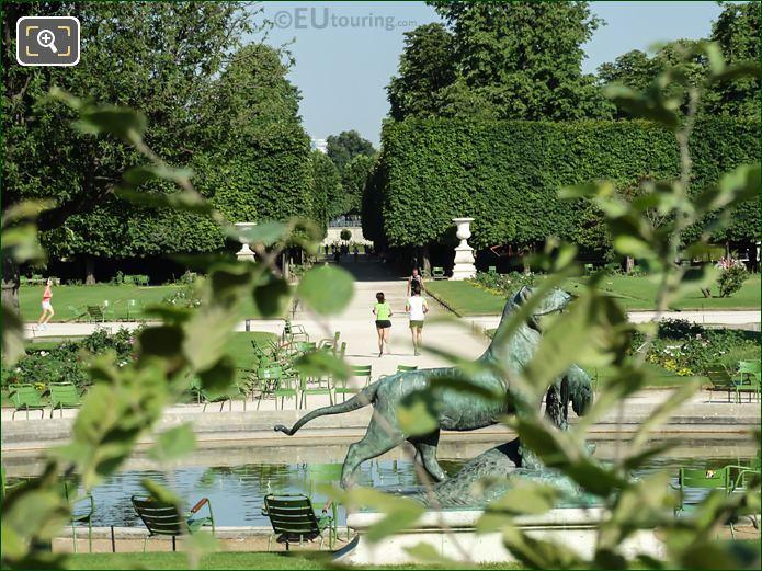 The Grand Reserve Sud Garden In Tuileries Garden Looking North West
