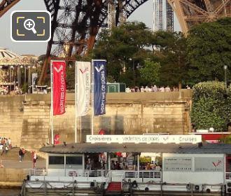 Vedettes De Paris Dock Under The Eiffel Tower