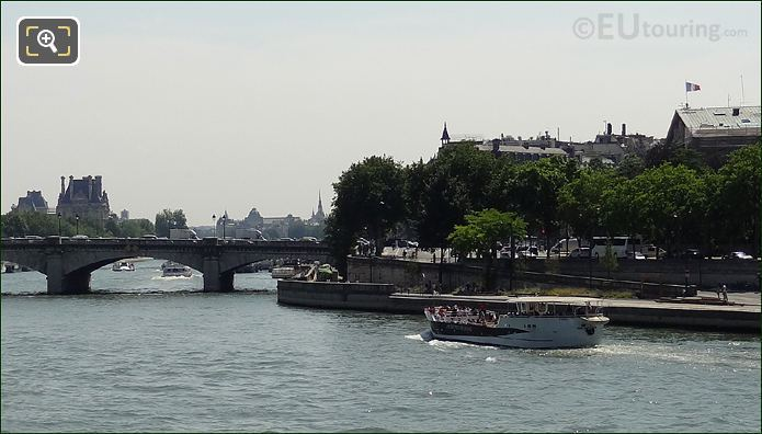 Vedettes De Paris Boat On The River Seine