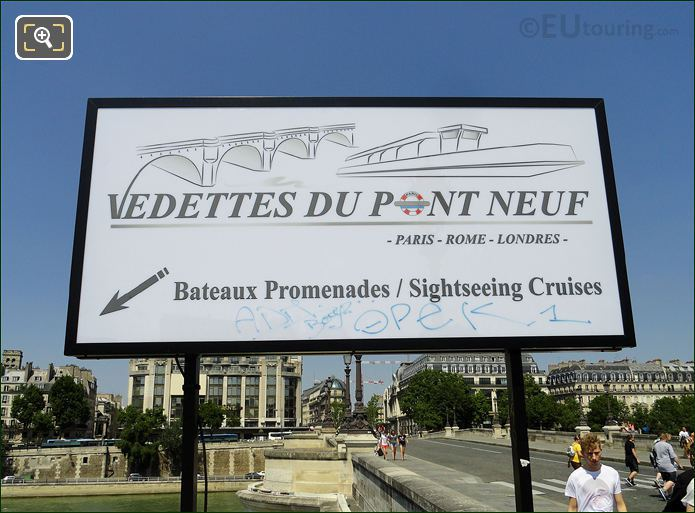Photo Of Vedettes Du Pont Neuf In Paris