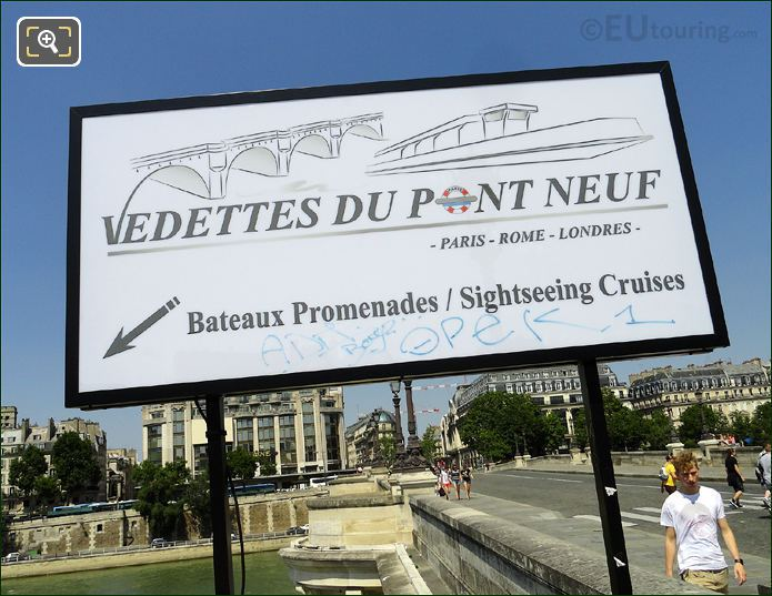 Sign For Vedettes Du Pont Neuf