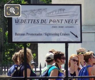 Vedettes Du Pont Neuf Sign