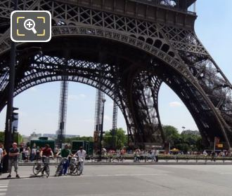 Velib Bikes At The Eiffel Tower