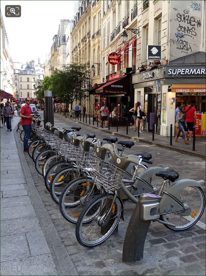 Velib Station Close To Shops