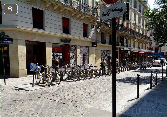 Velib Bike Station At Rue Saint Severin