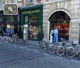 Velib Bike Station Ile de la Cite