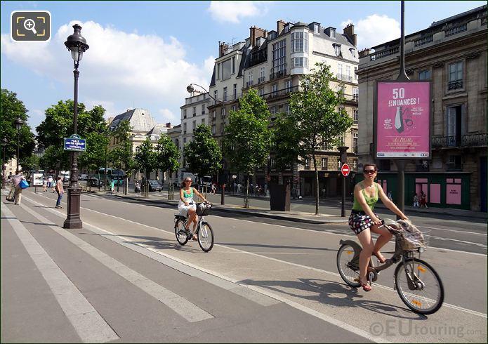 Velib Bikes At Place Justin Godart