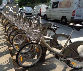 Velib Bikes At Bike Station