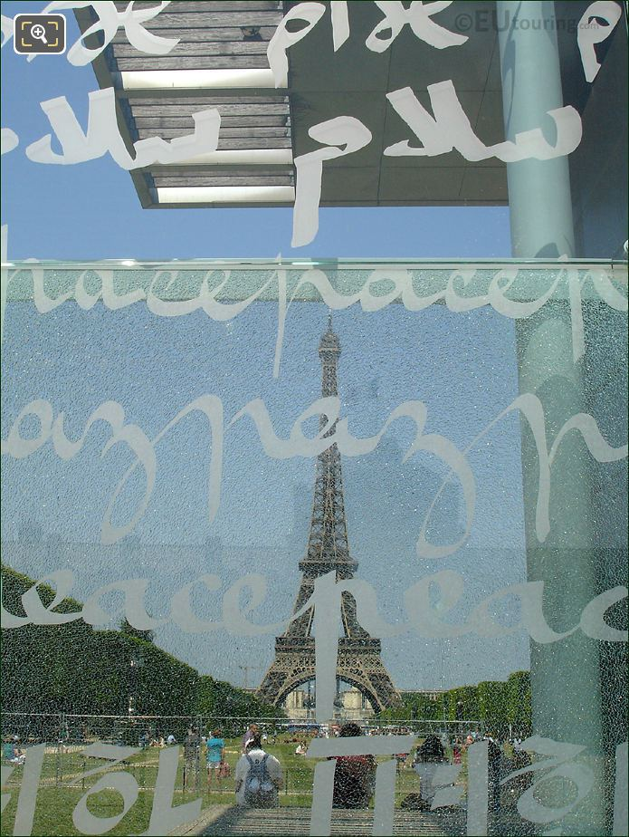 Wall For Peace And The Eiffel Tower