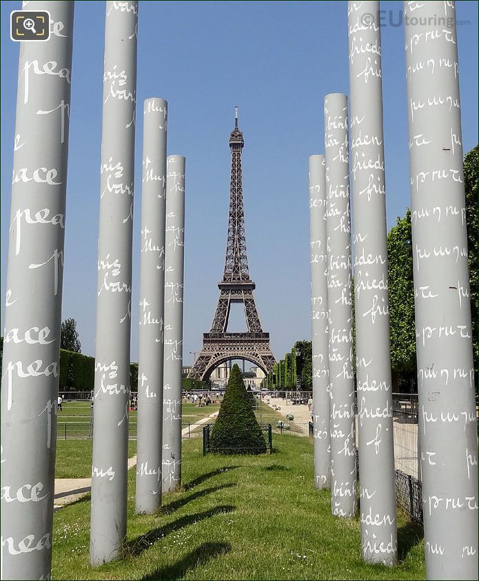 Wall For Peace Stainless Steel Columns